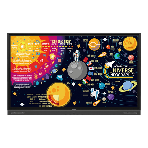 """Benq RP8602 Interactive flat panel 2.18 m (86"""") LED 4K Ultra HD Black Touchscreen Built-in processor Android 8.0"""