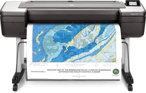 HP Designjet T1700dr 44-in grootformaat-printer Thermische inkjet Kleur 2400 x 1200 DPI 1118 x 1676 mm Ethernet LAN