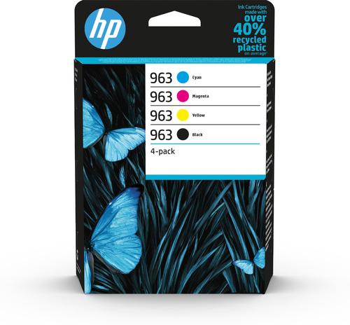 HP 963 4 stuk(s) Origineel Zwart, Cyaan, Magenta, Geel