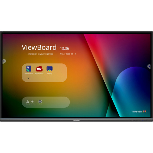 """Viewsonic IFP8650-3 signage display 2.18 m (86"""") LCD 4K Ultra HD Touchscreen Interactive flat panel Black Built-in processor An"""