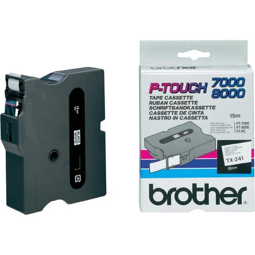 Brother TX-241 labelprinter-tape Zwart op wit