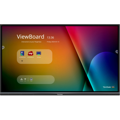 """Viewsonic IFP7550-3 signage display 190.5 cm (75"""") TFT 4K Ultra HD Touchscreen Interactive flat panel Black Built-in processor"""