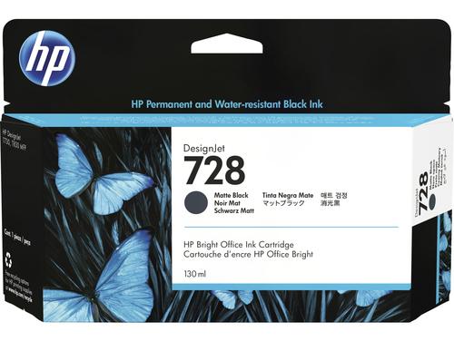 HP 728 1 stuk(s) Origineel Normaal rendement Mat Zwart