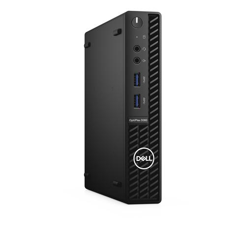 DELL OptiPlex 3080 10th gen Intel® Core™ i5 i5-10500T 8 GB DDR4-SDRAM 256 GB SSD MFF Black Mini PC Windows 10 Pro