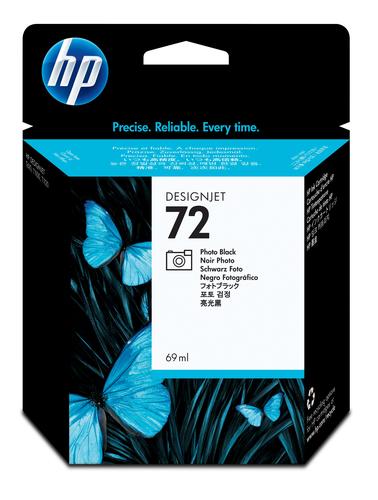 HP 72 69-ml Photo Black DesignJet Ink Cartridge inktcartridge Origineel Foto zwart