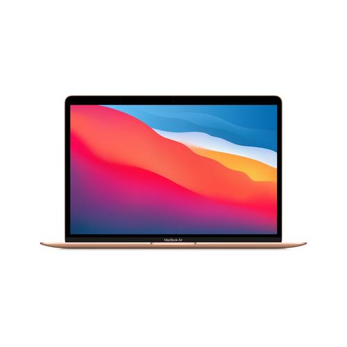 """Apple MacBook Air Notebook Gold 33.8 cm (13.3"""") 2560 x 1600 pixels Apple M 8 GB 256 GB SSD Wi-Fi 6 (802.11ax) macOS Big Sur"""