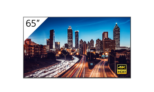 """Sony FW-65BZ40H + TEOS Manage Digital signage flat panel 165.1 cm (65"""") LCD 4K Ultra HD Black Android 9.0"""