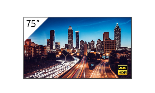 "Sony FW-75BZ40H + TEOS Manage Digitale signage flatscreen 190,5 cm (75"") LCD 4K Ultra HD Zwart Android 9.0"