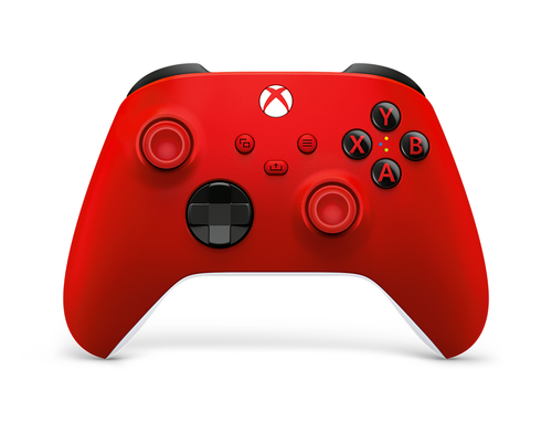 Microsoft Pulse Red Rood Bluetooth/USB Gamepad Analoog/digitaal Xbox, Xbox One, Xbox Series S, Xbox Series X