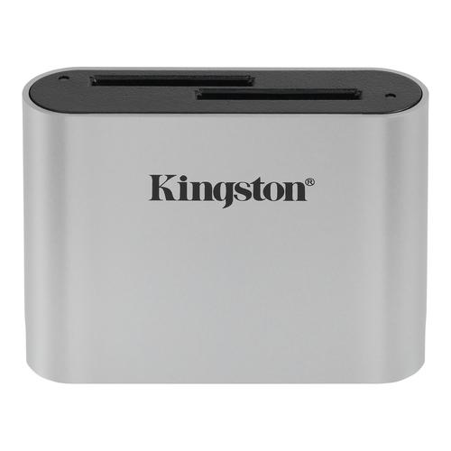 Kingston Technology Workflow SD Reader geheugenkaartlezer USB 3.2 Gen 1 (3.1 Gen 1) Zwart, Zilver
