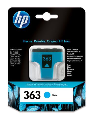 HP 363 inktcartridge 1 stuk(s) Origineel Normaal rendement Foto cyaan