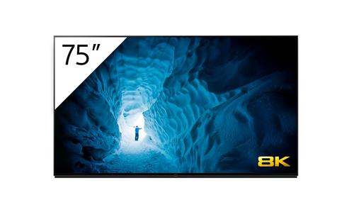 "Sony FWD-75Z8H/UKT signage display Digital signage flat panel 190.5 cm (75"") LED 8K Ultra HD Silver Android 9.0"