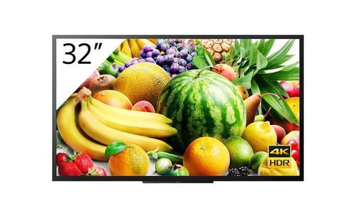 "Sony FW-32BZ30J signage display Digital signage flat panel 81.3 cm (32"") VA 4K Ultra HD Black Android 10"