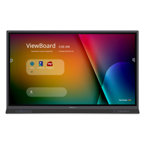 """Viewsonic IFP6552-1A touch screen monitor 165.1 cm (65"""") 3840 x 2160 pixels Dual-touch Black"""