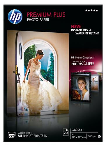 HP Premium Plus glanzend fotopapier, 20 vel, A4/210 x 297 mm