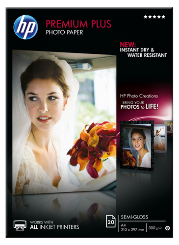 HP Premium Plus matglanzend fotopapier, 20 vel, A4/210 x 297 mm