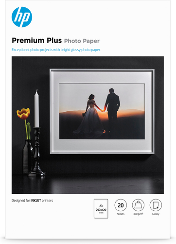 HP Premium Plus glanzend fotopapier, 20 vel, A3/297 x 420 mm