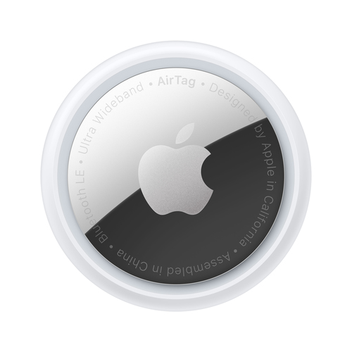 Apple AirTag Bluetooth Zilver, Wit
