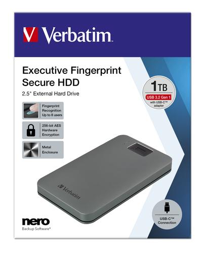 Verbatim 53652 externe harde schijf 1000 GB Grijs