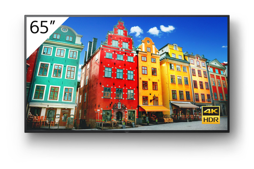 "Sony FW-65BZ30J signage display Digital signage flat panel 165.1 cm (65"") IPS 4K Ultra HD Black Built-in processor Android 10"
