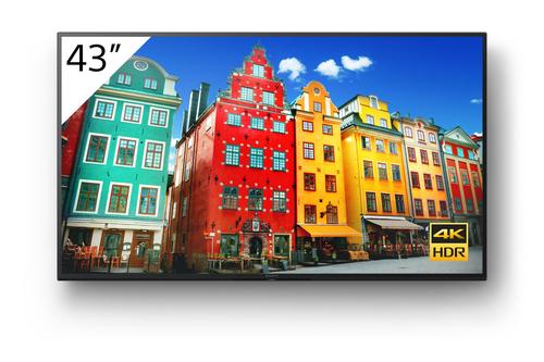"Sony FW-43BZ30J beeldkrant Digitale signage flatscreen 109,2 cm (43"") IPS 4K Ultra HD Zwart Type processor Android 10"