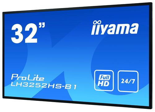 "iiyama LH3252HS-B1 beeldkrant Digitale signage flatscreen 80 cm (31.5"") IPS Full HD Zwart Type processor Android 8.0"