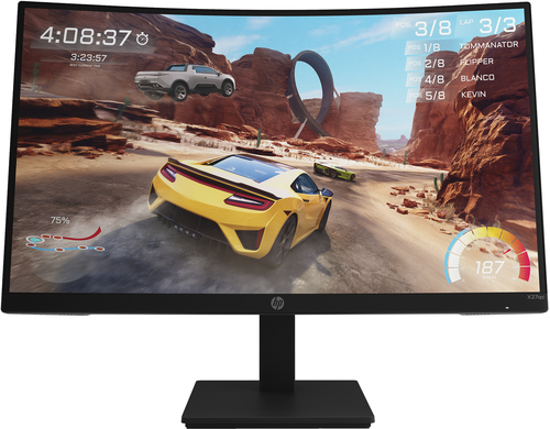 "HP X27qc 68,6 cm (27"") 2560 x 1440 Pixels Quad HD Zwart"