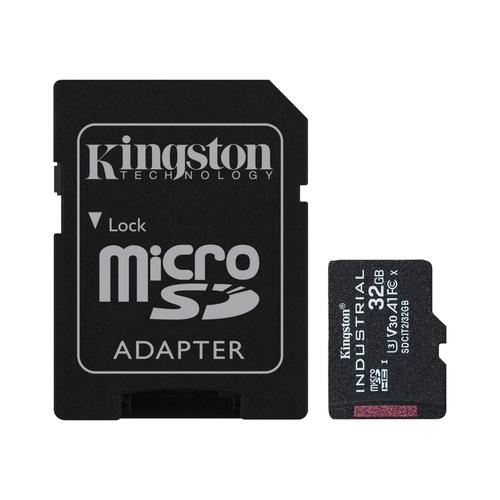 Kingston Technology Industrial flashgeheugen 32 GB MiniSDHC UHS-I Klasse 10
