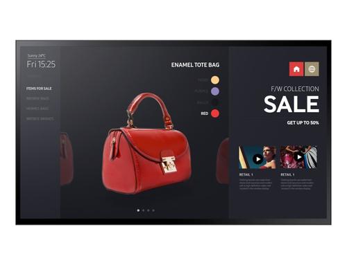 "Samsung LH55PMFXTBC/EN beeldkrant Digitale signage flatscreen 139,7 cm (55"") VA Full HD Zwart Touchscreen"