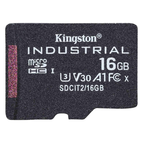 Kingston Technology Industrial flashgeheugen 16 GB MicroSDHC UHS-I Klasse 10