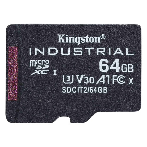 Kingston Technology Industrial flashgeheugen 64 GB MicroSDXC UHS-I Klasse 10