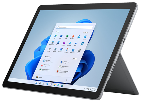 "Microsoft Surface Go 3 64 GB 26.7 cm (10.5"") 10th gen Intel® Core™ i3 4 GB Wi-Fi 6 (802.11ax) Windows 11 Pro Platinum"