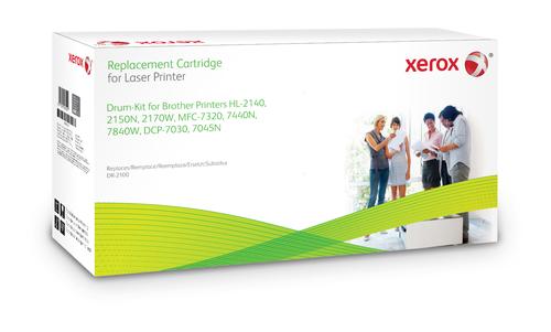 Xerox Drumcartridge. Gelijk aan Brother DR2100. Compatibel met Brother DCP-7030/7040/7045W, HL-2140/HL-2150N/HL-2170W, MFC-7320/