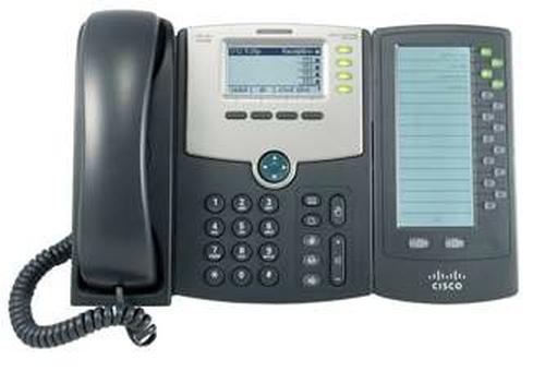 Cisco SPA500DS Handset met snoer 30regels LCD Zwart IP telefoon