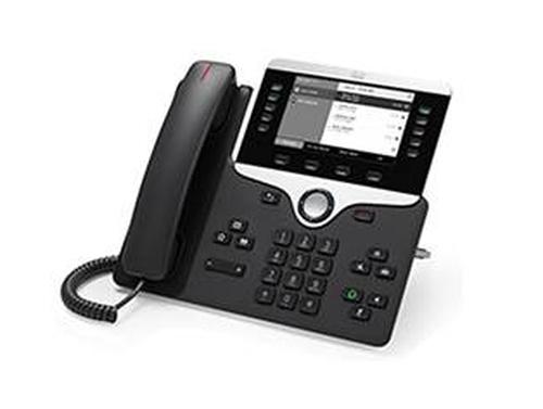 Cisco 8811 IP phone Black Wired handset LCD