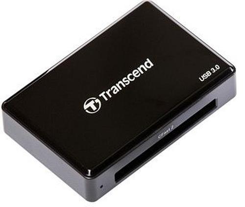 Transcend CFast 2.0 USB3.0 USB 3.0 Zwart geheugenkaartlezer