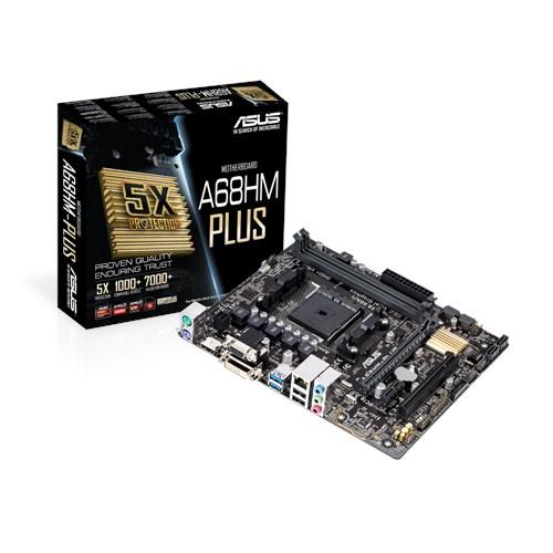 ASUS A68HM-Plus moederbord Socket FM2+ Micro ATX AMD A68H