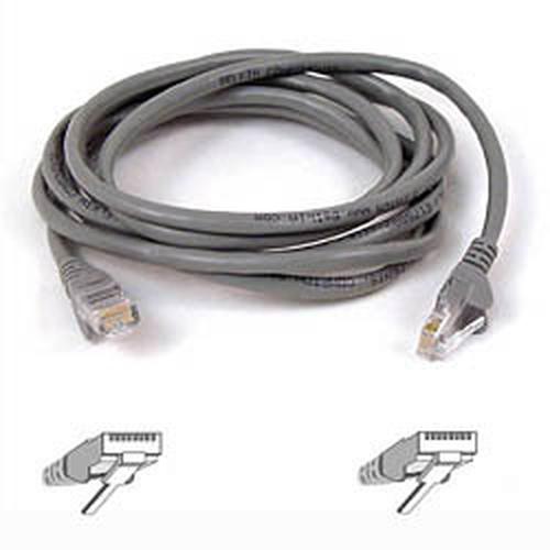 Belkin Cable patch CAT5 RJ45 snagless 1m grey 1m Grijs netwerkkabel