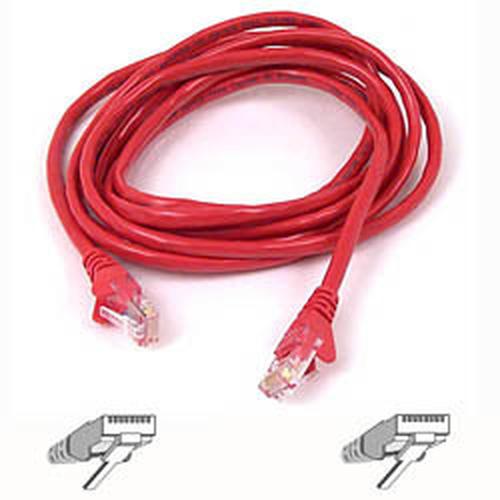 Belkin Cable patch CAT5 RJ45 snagless 0.5m red 0.5m netwerkkabel