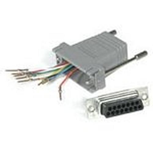 C2G RJ45 / DB15M Modular Adapter RJ45 DB15 M Grijs kabeladapter/verloopstukje