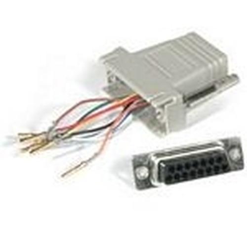C2G RJ45/DB15F Modular Adapter DB15 FM Grijs