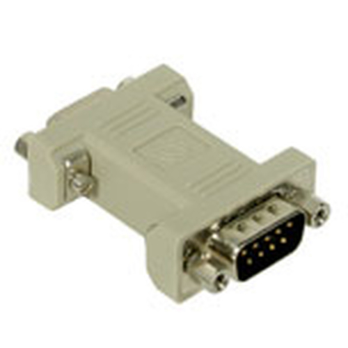 C2G DB9 Modem Adapter DB9 M DB9 FM Grijs kabeladapter/verloopstukje