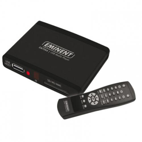 Eminent USB 2.0 Media Player digitale mediaspeler Zwart