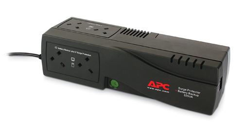 APC Back-UPS 325, UK uninterruptible power supply (UPS) 325 VA 185 W 4 AC outlet(s)