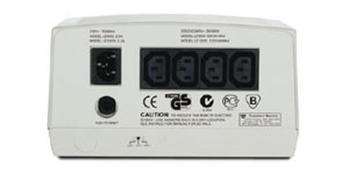 APC Line-R 4AC outlet(s) 230V Beige spanningregelaar