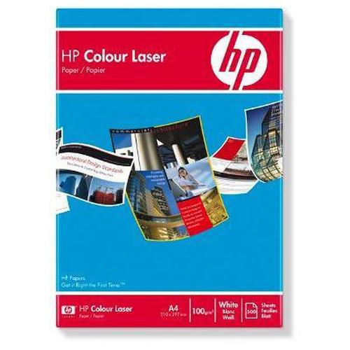 HP Color Laser Paper 100 gsm-500 sht/A4/210 x 297 mm papier voor inkjetprinter A4 (210x297 mm) Mat 500 vel Wit