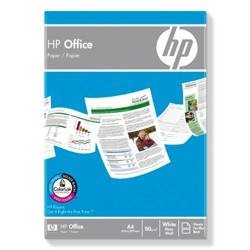 HP Office Paper-500 sht/A4/210 x 297 mm, 5 pack papier voor inkjetprinter A4 (210x297 mm) Mat 500 vel Wit