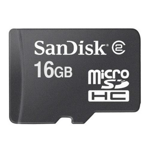 Sandisk MicroSDHC 16GB Class 2 16GB MicroSDHC memory card