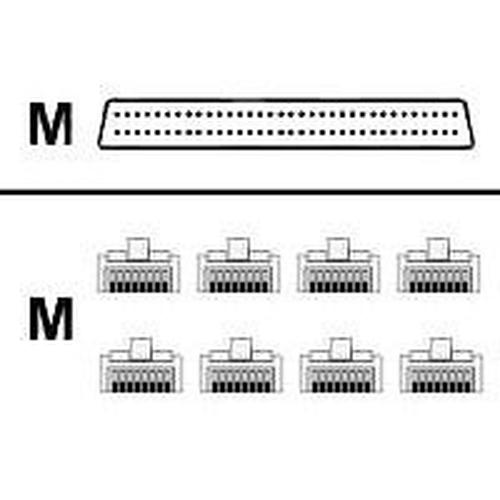 Cisco Cable 8 Lead Octal 68 pin - 8 RJ45 1.22m Zwart netwerkkabel