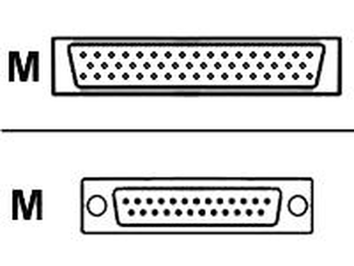 Cisco Smart Serial WIC2/T 26 Pin - RS530 D25 Male DTE seriële kabel Blauw